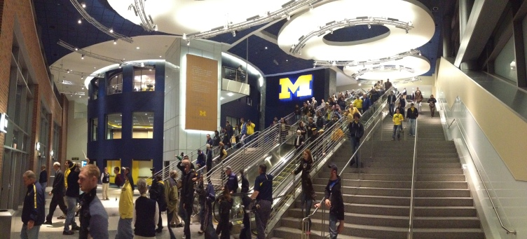Crisler - Main Entry w-people